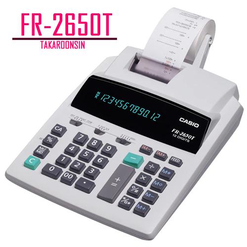 เครื่องคิดเลข Casio 12 หลัก FR-2650T แบบพิมพ์ - อิ้งโรลล์