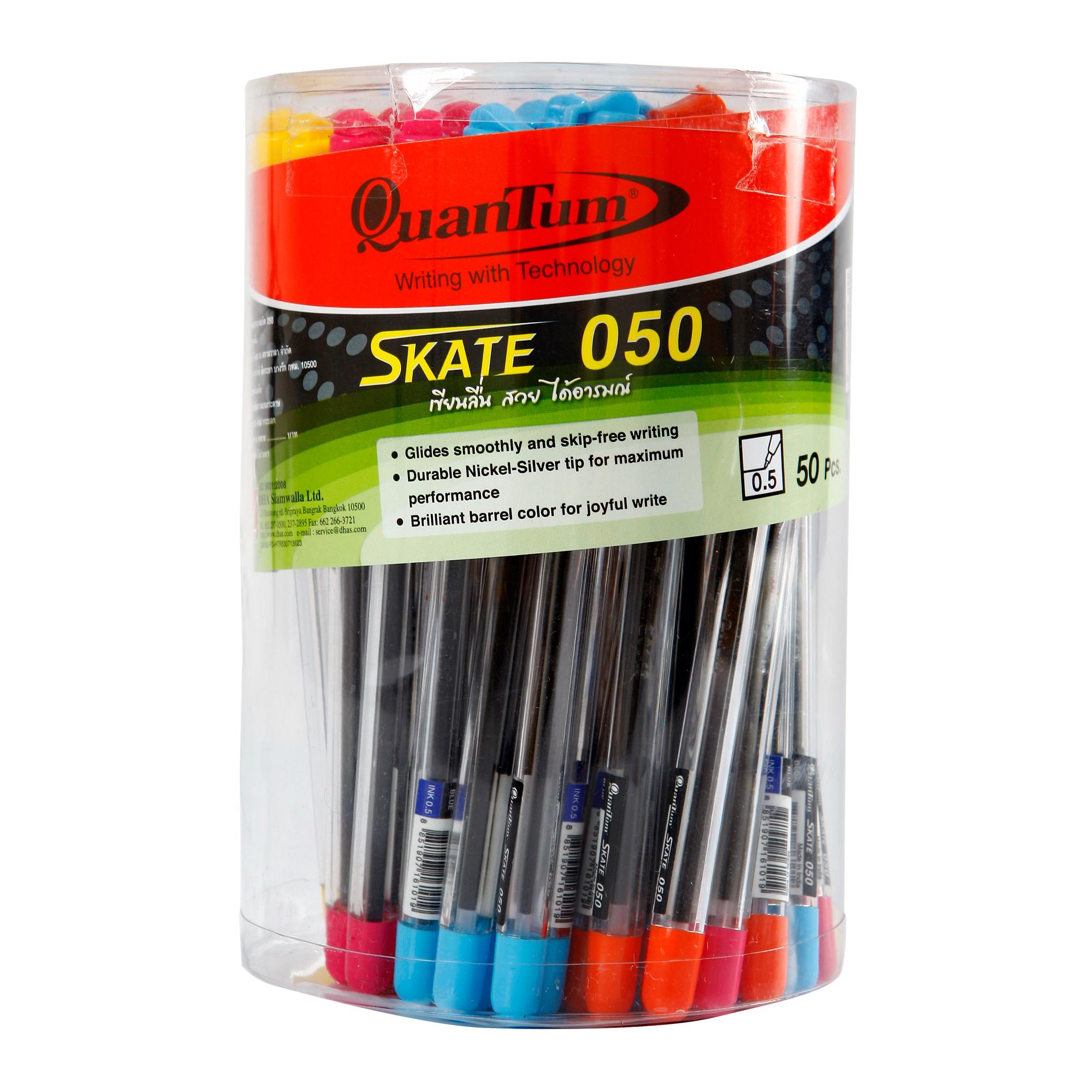 ปากกาลูกลื่น 0.5มม. QUANTUM Skate 050