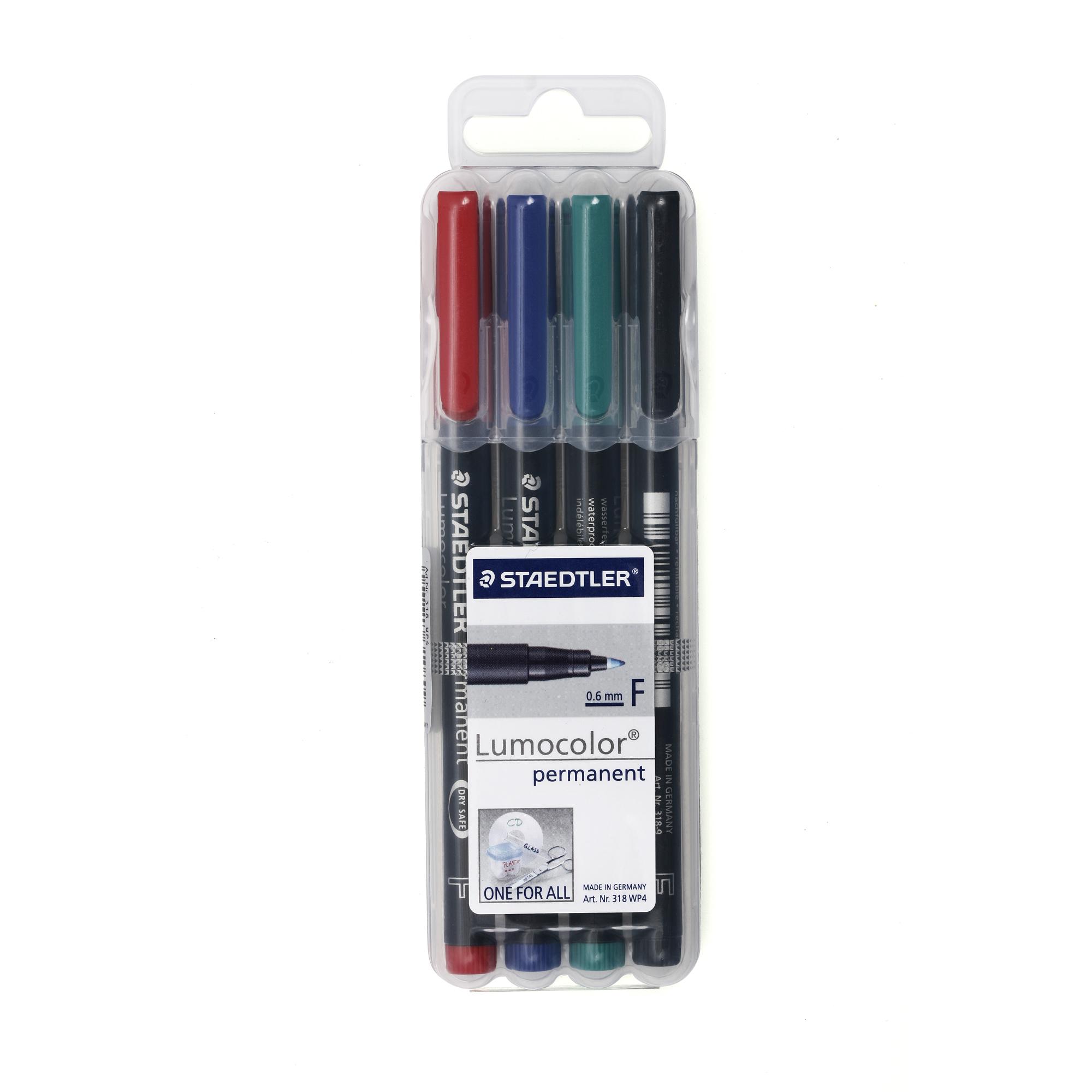 ปากกาเขียนแผ่นใสลบไม่ได้ 0.6 มม. STAEDTLER 318-9 WP4