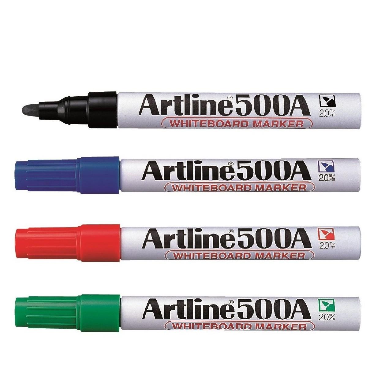 ปากกาไวท์บอร์ด 2 มม.ดำ อาร์ทไลน์ EK-500A
