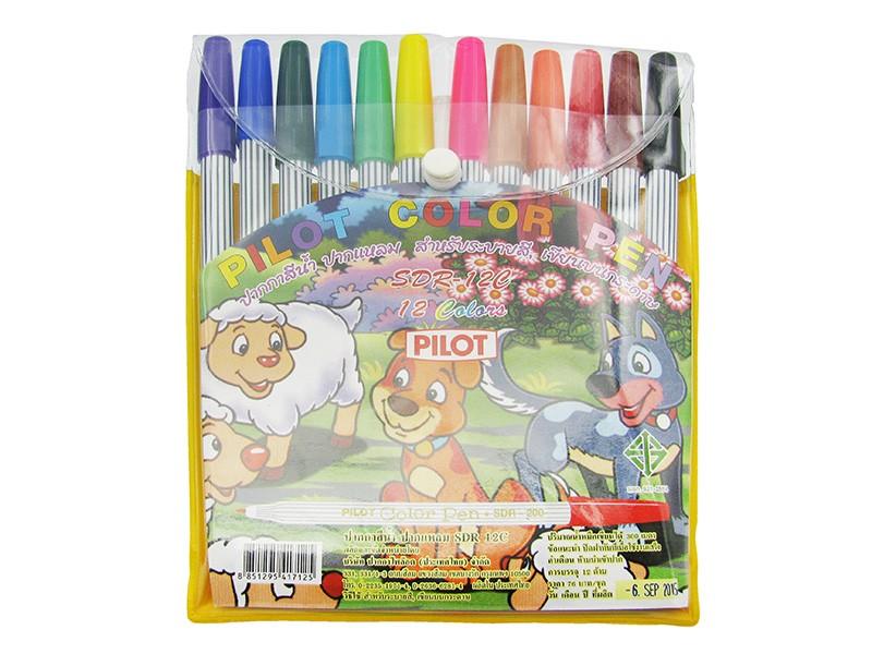 ปากกาเมจิก แบบแพ็ค PILOT  SDR-200