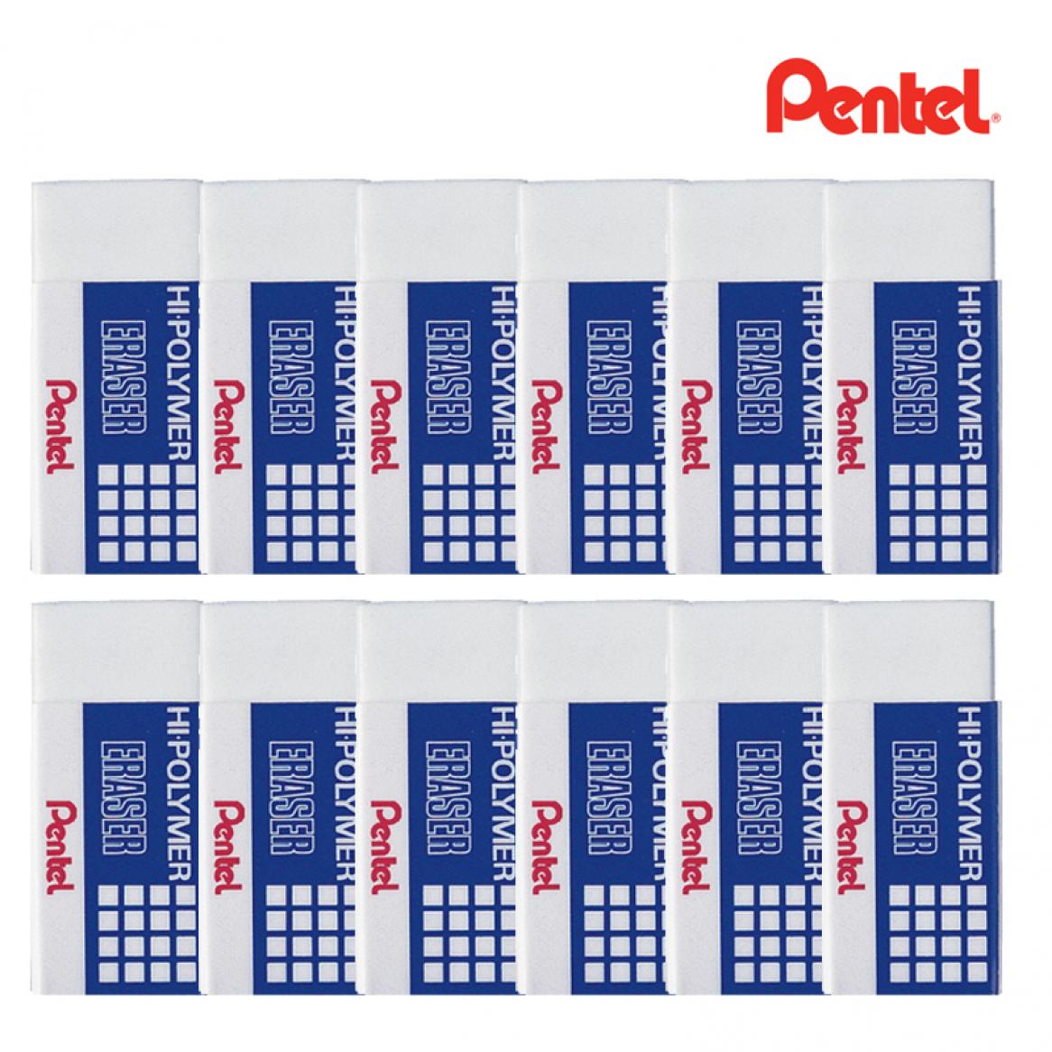 ยางลบดินสอ  PENTEL Hi-Polymer ZEH-03E