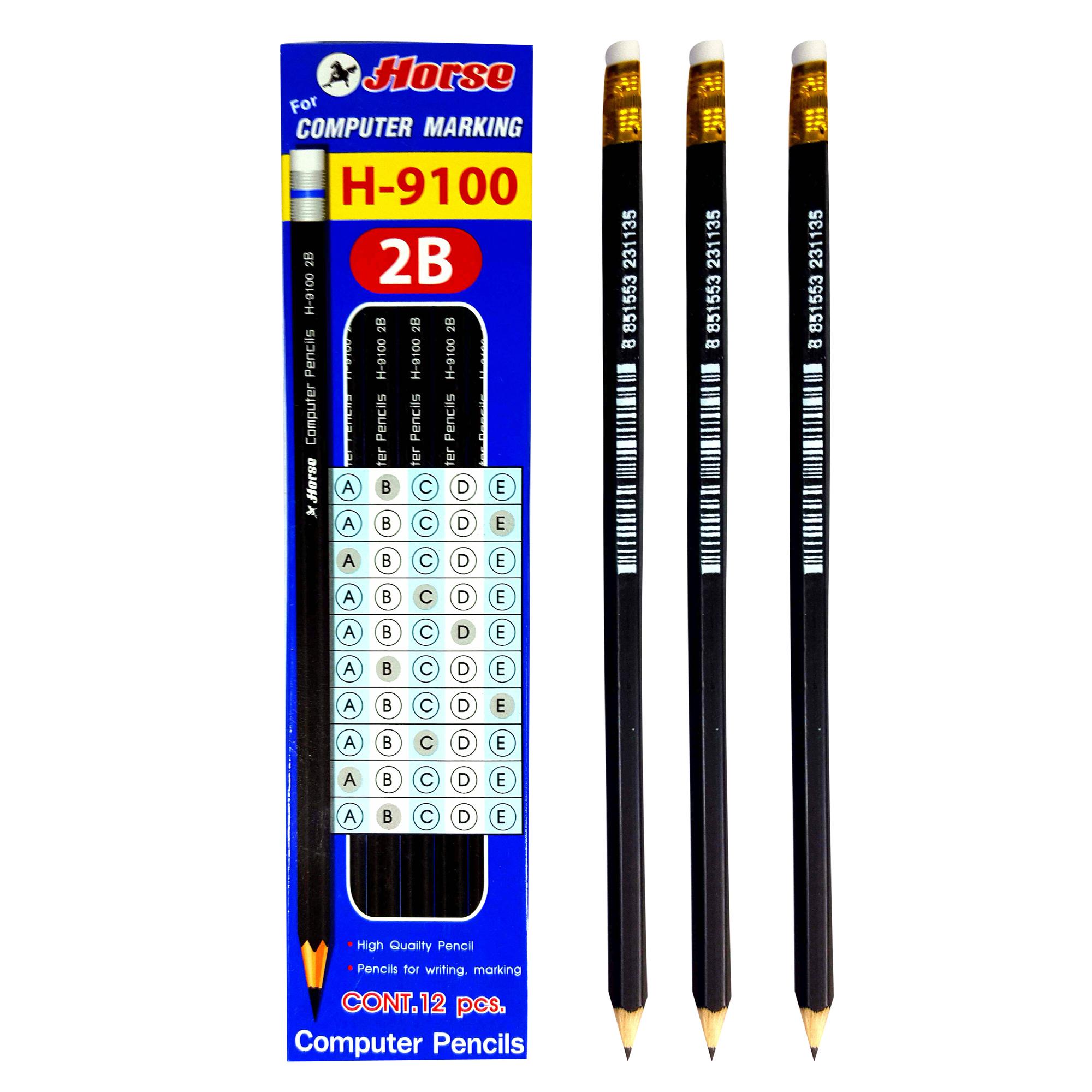 ดินสอ 2B  ตราม้า H-9100