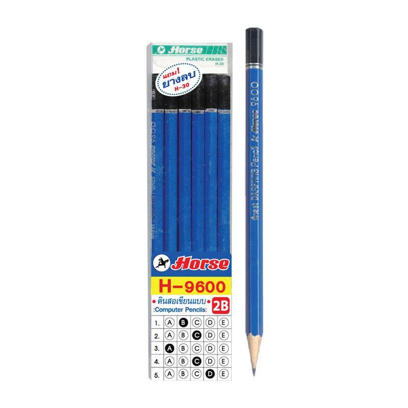 ดินสอ 2B  ตราม้า 9600