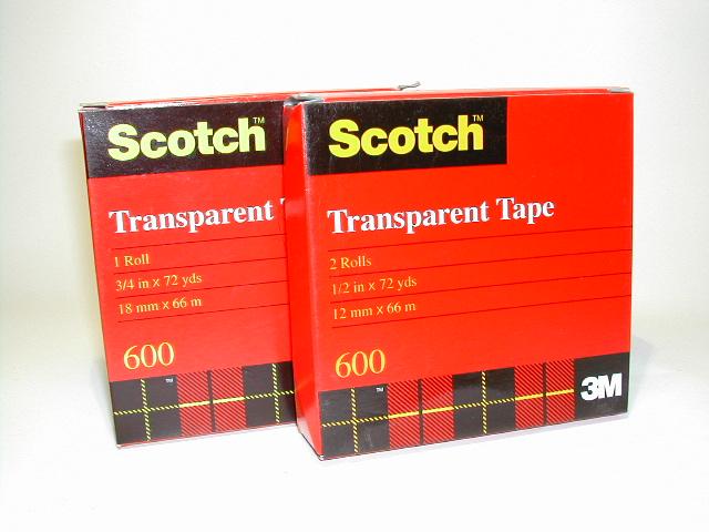 เทปใส 1 นิ้ว x 72 หลา Scotch 600 แกน 1 นิ้ว