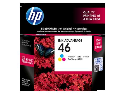 ตลับหมึกอิงค์เจ็ท  HP 46 Tri-color Original Ink Advantage Cartridge