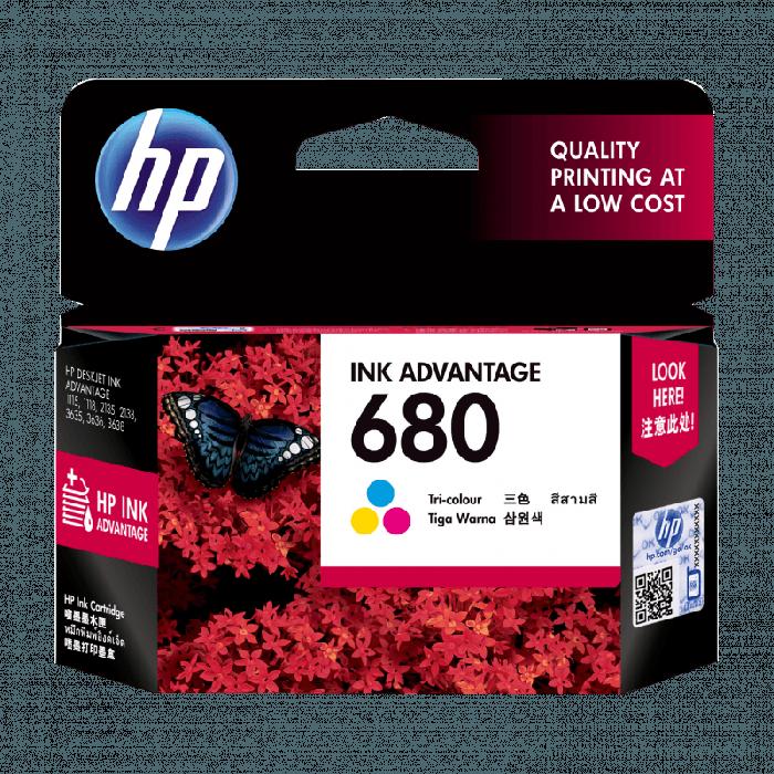 ตลับหมึกอิงค์เจ็ท  HP 680/CO Original Ink Cartridge Tri-color