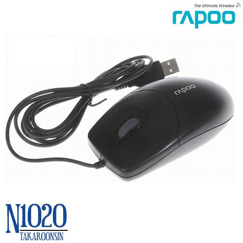 เมาส์ RAPOO USB Optical Mouse รุ่น N1020