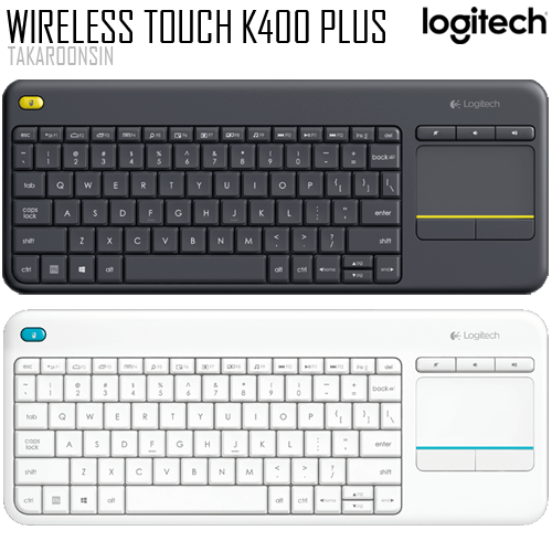 คีย์บอร์ด Logitech K400 Plus WIRELESS TOUCH KEYBOARD