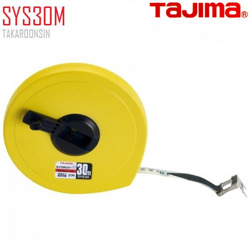 ตลับเทปวัดที่ เนื้อเทปใยแก้ว SYS30M Tajima