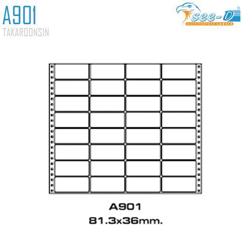 สติ๊กเกอร์ Dot Matrix Labels A901 (81.3x36 มม.) SEE-D