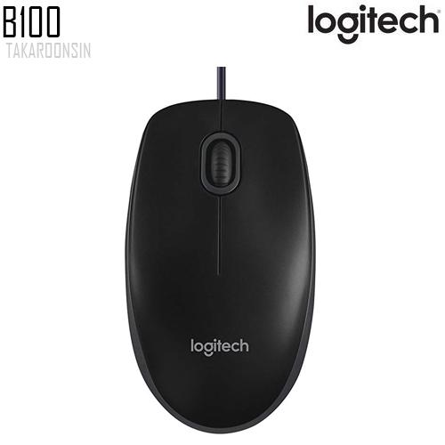 เมาส์ Logitech B100 OPTICAL USB MOUSE