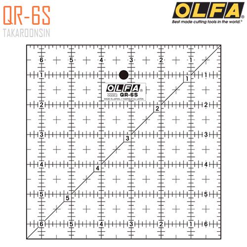 ไม้บรรทัดสเกล OLFA QR-6S