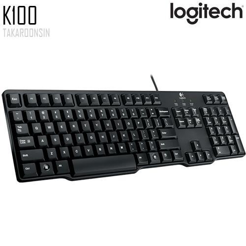 คีย์บอร์ด Logitech K100 CLASSIC KEYBOARD