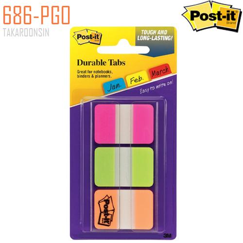 ดูราเบิลแท็บ โพสต์-อิท 686-PGO (1x1.5 นิ้ว) POST-IT Durable Tabs