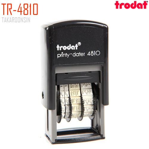 ตรายางวันที่ ภาษาไทย(เลขไทย) TRODAT TR-4810