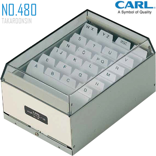 กล่องใส่นามบัตร แบบโลหะ CARL No.480 (400 ชื่อ)