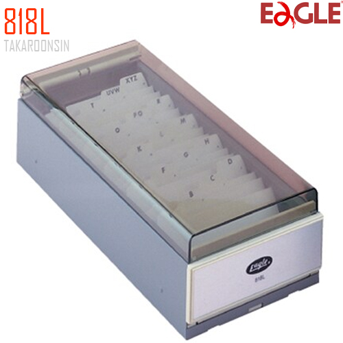 กล่องใส่นามบัตร แบบโลหะ EAGLE 818L (700 ชื่อ)