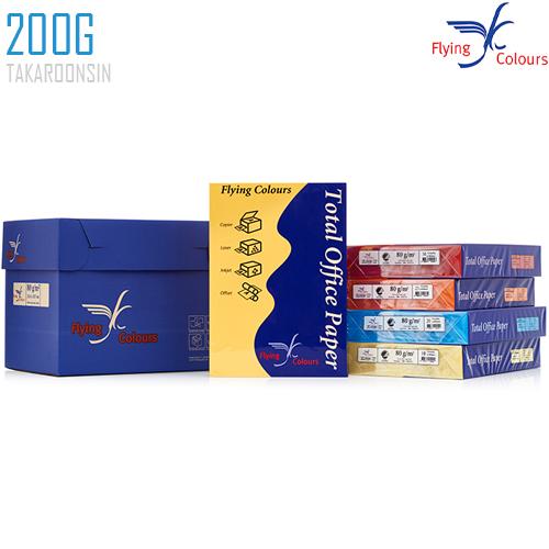 กระดาษการ์ดสี A4 200 แกรม FLYING COLORS