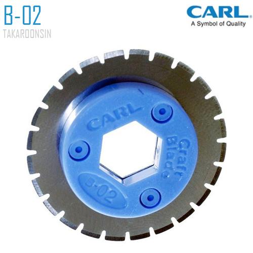 อะไหล่ใบมีดแท่นตัดกระดาษ CARL B-02