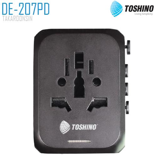 ปลั๊กแปลงขาชาร์จเร็ว TOSHINO DE-207PD 4 in 1