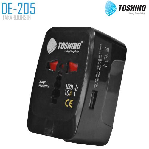 ปลั๊กแปลง TOSHINO DE-205 4 in 1