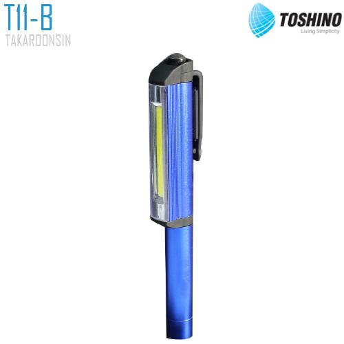 ไฟฉายใส่ถ่าน หลอด LED 4 TOSHINO T11-B