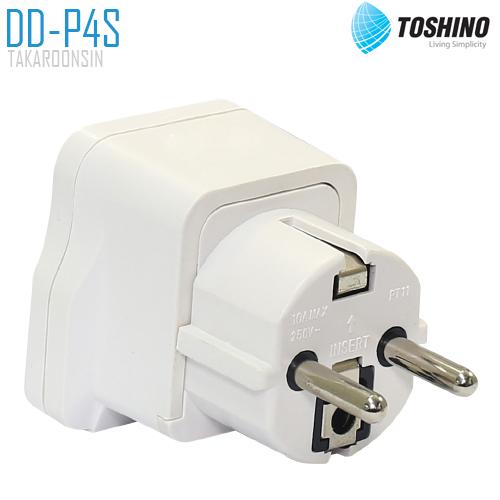 ปลั๊กแปลงขากลม TOSHINO DD-P4S มี Surge