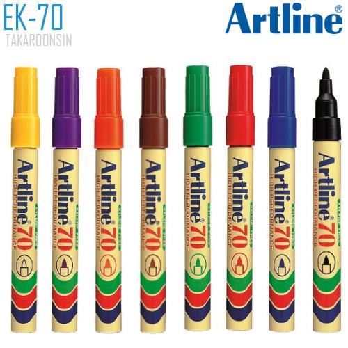 ปากกาเคมี หัวกลม ARTLINE EK-70