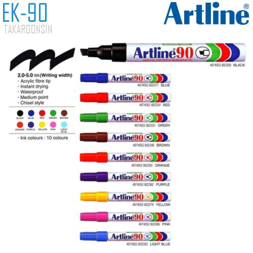 ปากกาเคมี หัวตัด ARTLINE EK-90