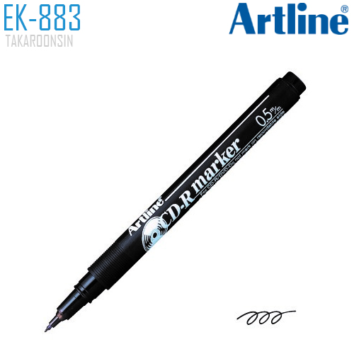 ปากกาเขียนแผ่นซีดี/ดีวีดี หัวเล็ก 0.5 มม. ARTLINE EK-883
