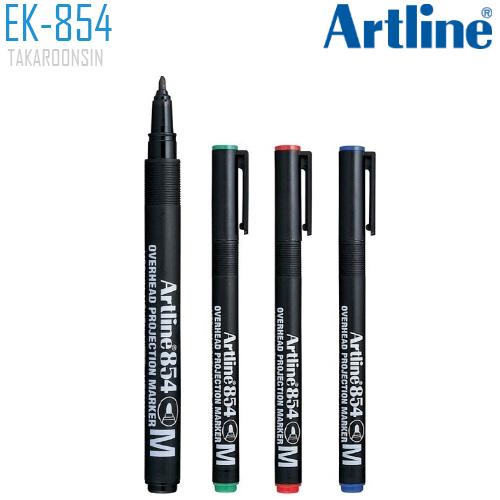 ปากกาเขียนแผ่นใส ลบไม่ได้ 1.0 มม. ARTLINE EK-854/4W