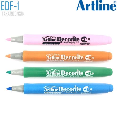 ปากกา DECORITE ARTLINE EDF-1/P (สีพาสเทล)