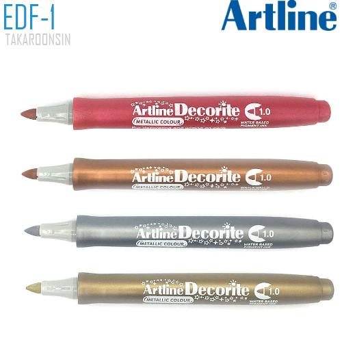 ปากกา DECORITE ARTLINE EDF-1/M (สีเมทาลิค)