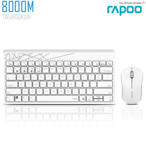 ชุดคีย์บอร์ดและเมาส์ RAPOO Wireless Desktop 8000M