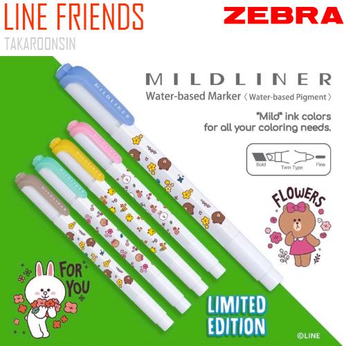 ปากกาเน้นข้อความ ZEBRA MILDLINER LINE FRIENDS