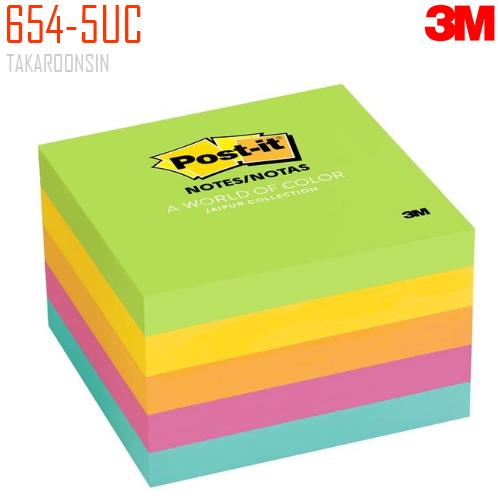 กระดาษโน๊ตกาวในตัว 654-5UC 3x3