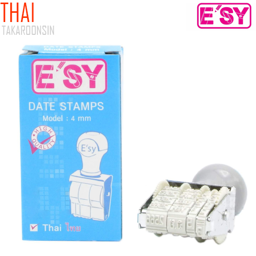 ตรายางวันที่ Thai  E
